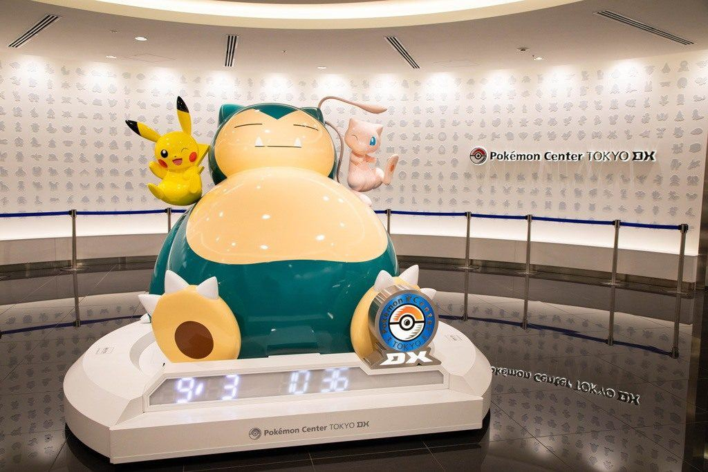 Snorlax statue as you get off the elevator.
