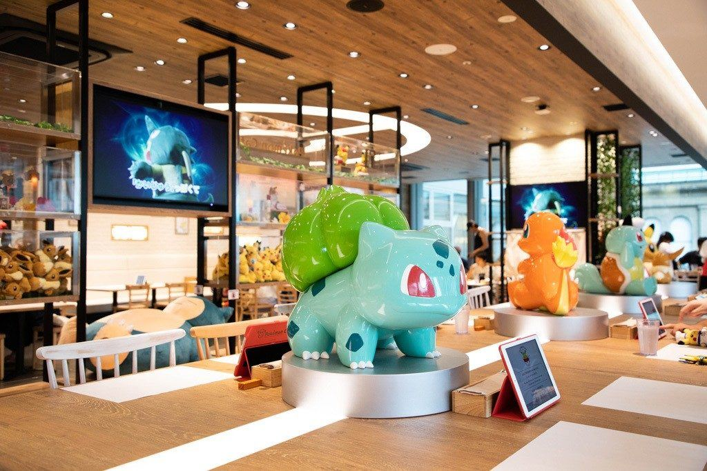 Dining room at Pokemon Cafe.