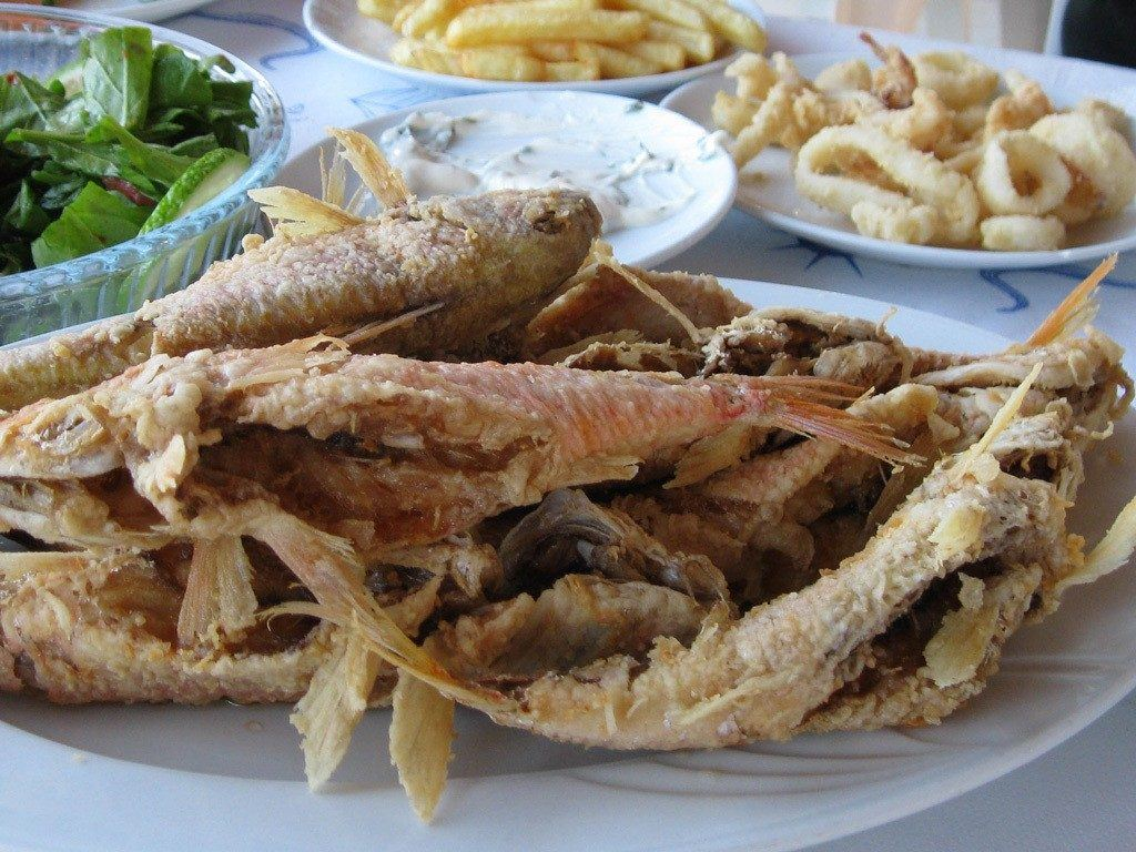 Deep fried fishes.