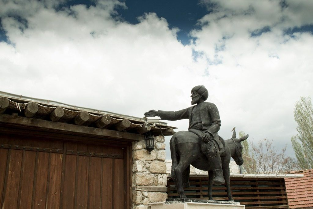 Where to Go in Turkey - Nasrettin Hoja is a little off the beaten path, but one of our favorite stops. Here is a statue of the famous Hodja himself.