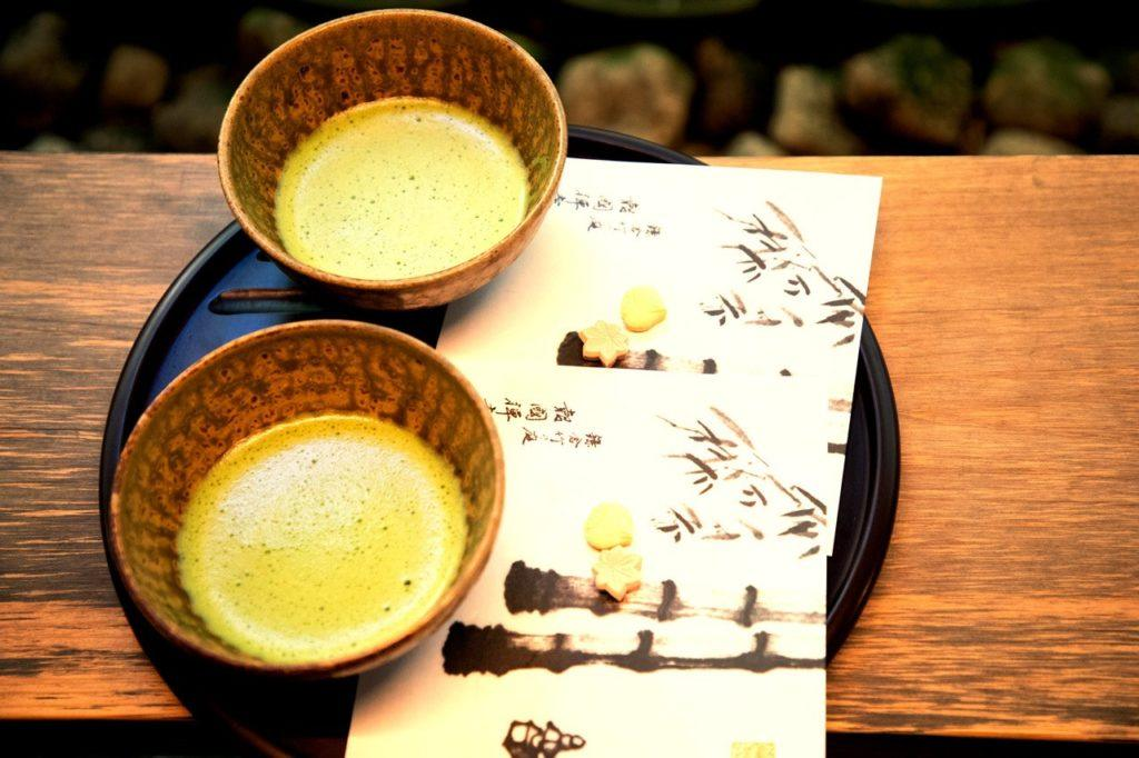 Match Tea served at Hokokuji Temple in the bamboo grove.