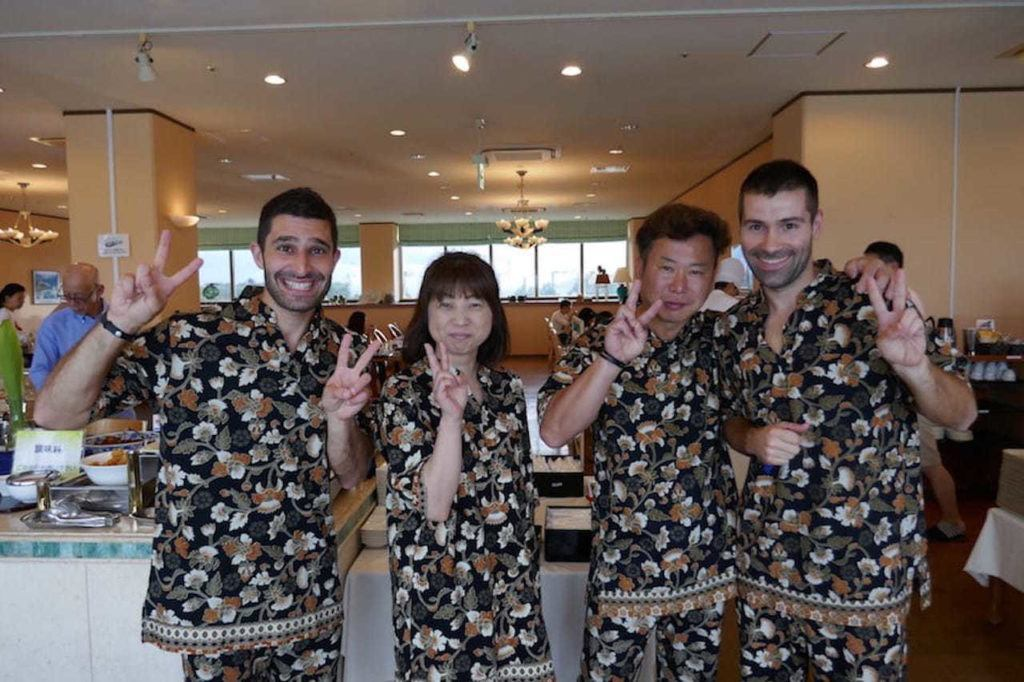 Great hotels come with great pajamas, like the Ishigaki Seaside Hotel.