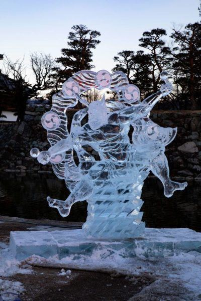 A legendary figure carved in ice.