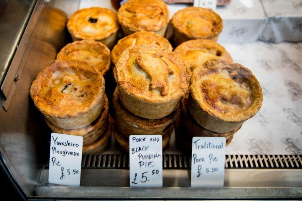 My favorite British Food is meat pies at the Ginger Pig.