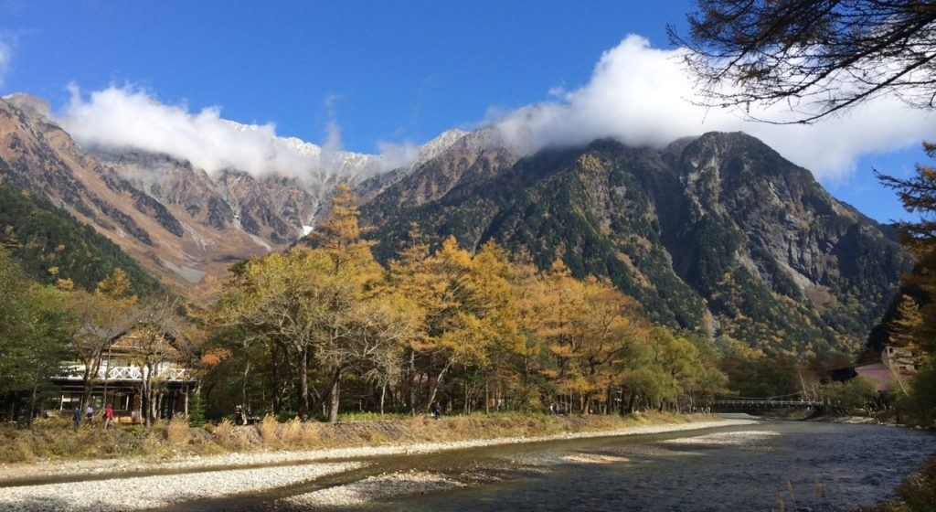 Fall in Japan is the perfect time to go hiking in Kamikochi.
