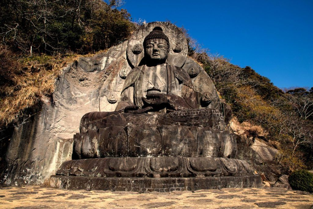 Big Stone Buddha at Nokogiriyama on the Boso Peninsula.