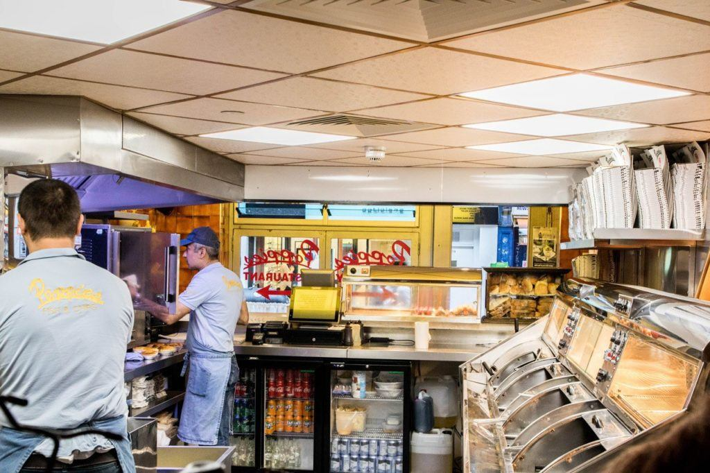 Traditional English Food - Inside the Chippie.