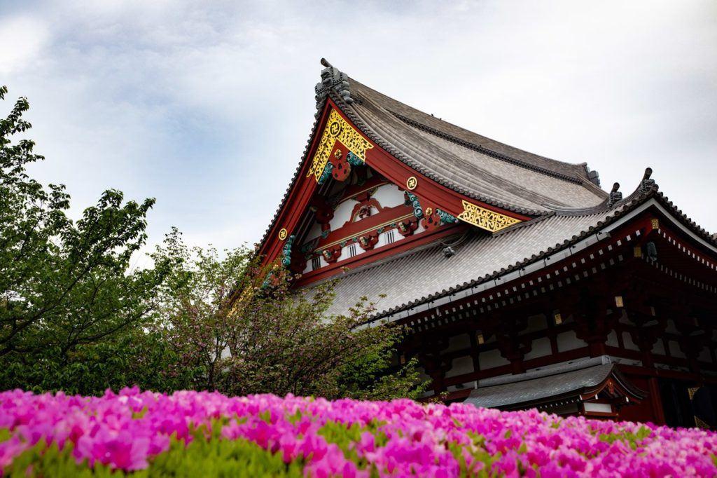 Spring in Japan at Sensoji Temple.