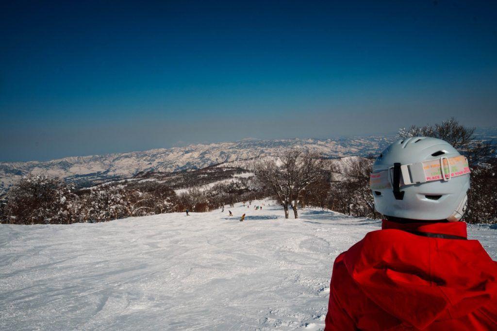 The best part of enjoying winter in japan is skiing, like at Nozawaonsen.