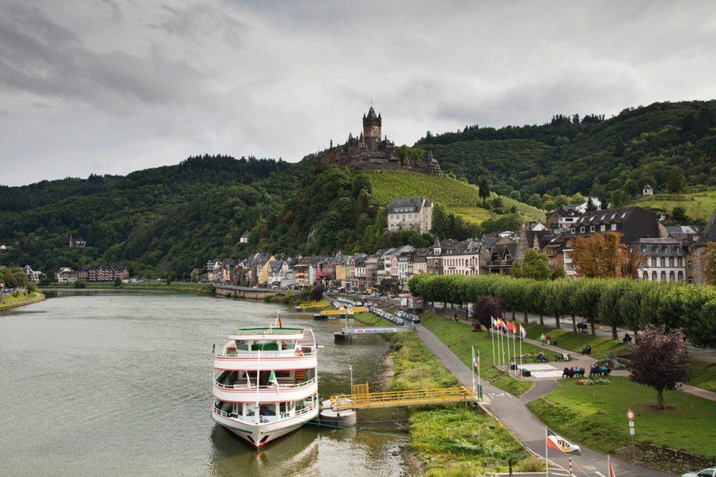 Mosel River Cruise Leaving Charming Bernkastel