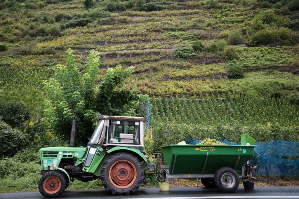 How to get to Bernkastel - Take a tractor?