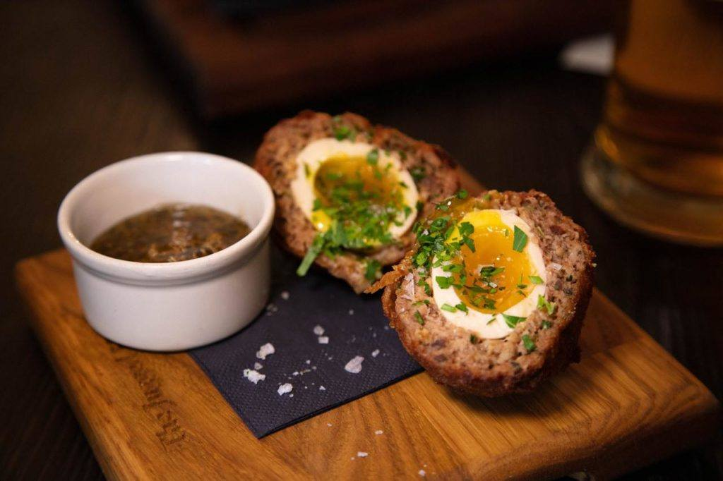 Best London English Food - Scotch Egg at the Jugged Hare.