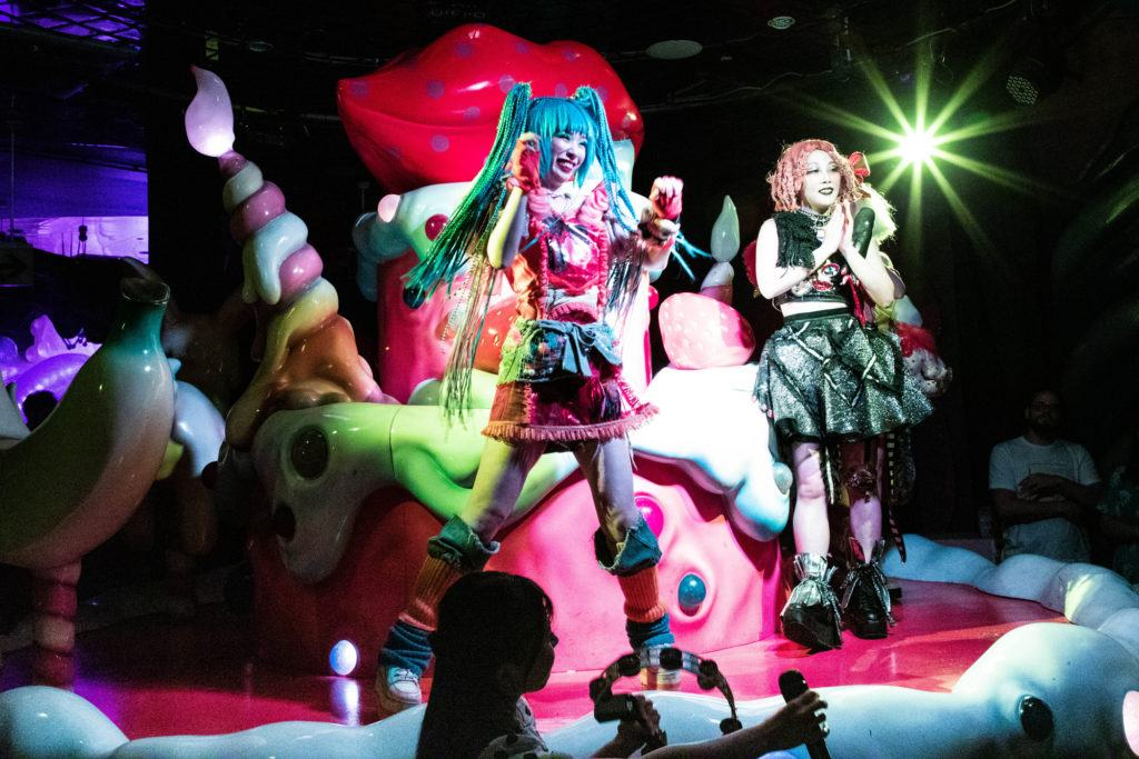 Singing and Dancing, all part of the Kawaii Monster show.