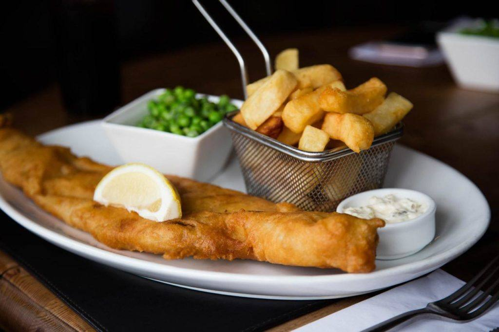 Traditional British Food - Pub Food is Fish and Chips.