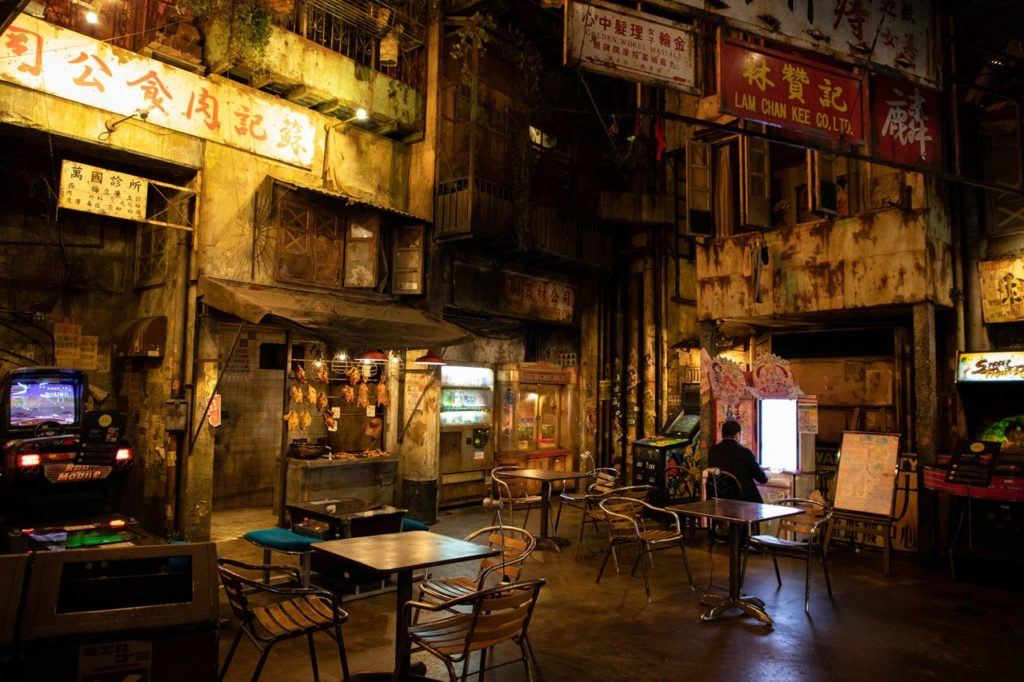 Street front inside the best arcade in Japan.