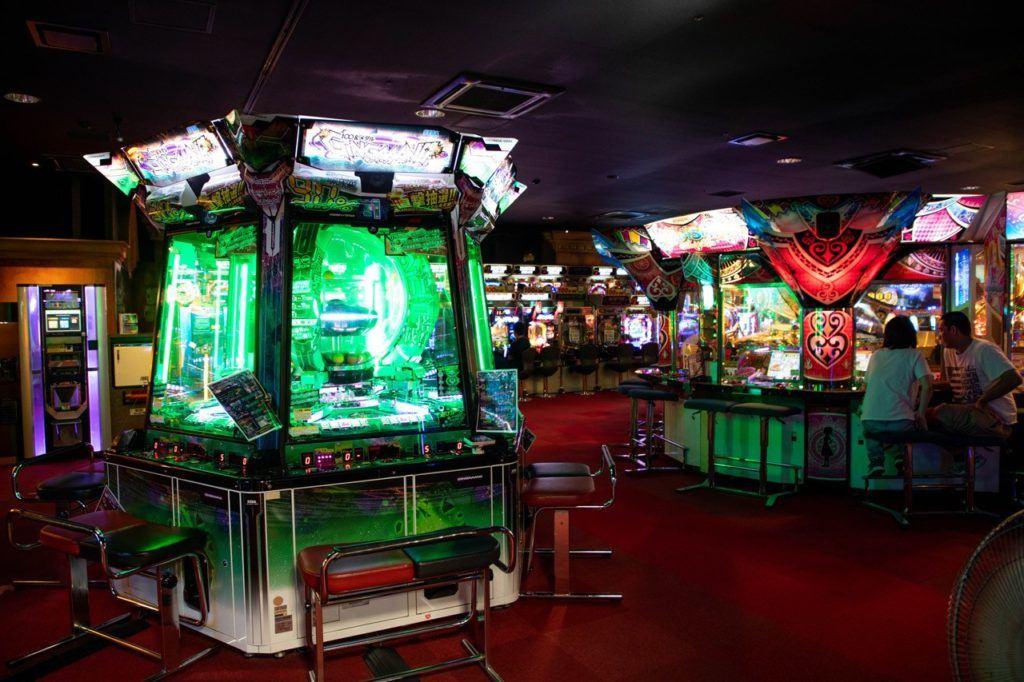 Warehouse Arcade Kawasaki Japan Coin Pusher Games.