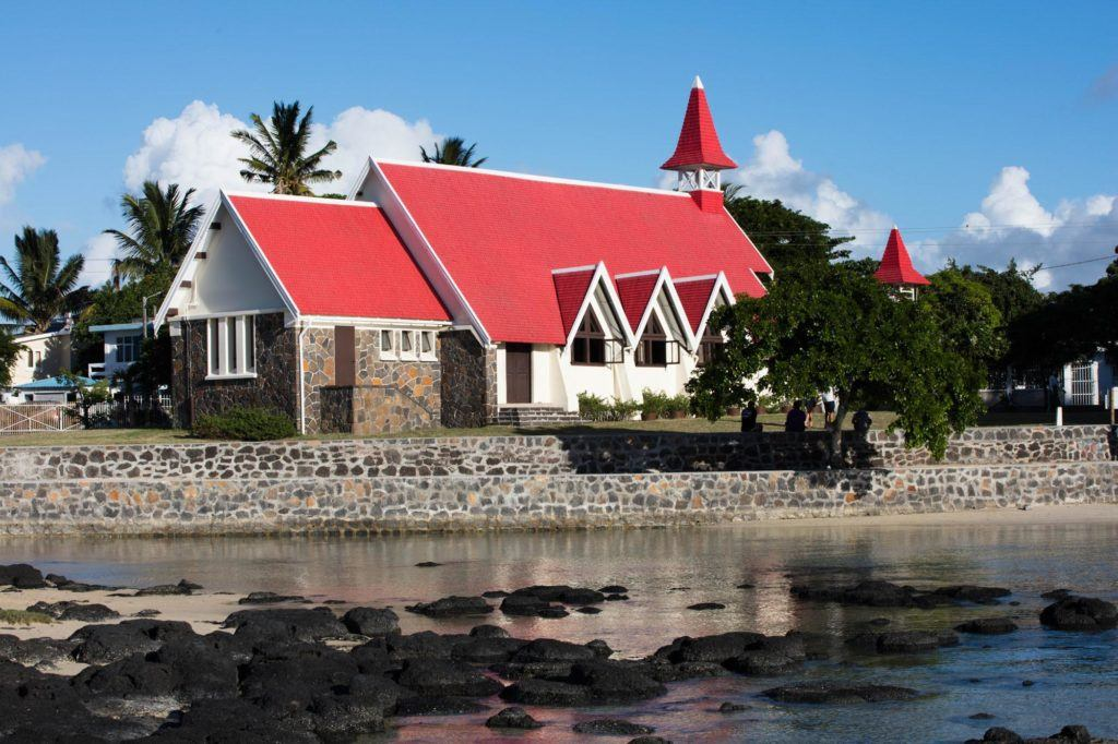 This red-roofed church is an iconic spot in Cap Malheureux.