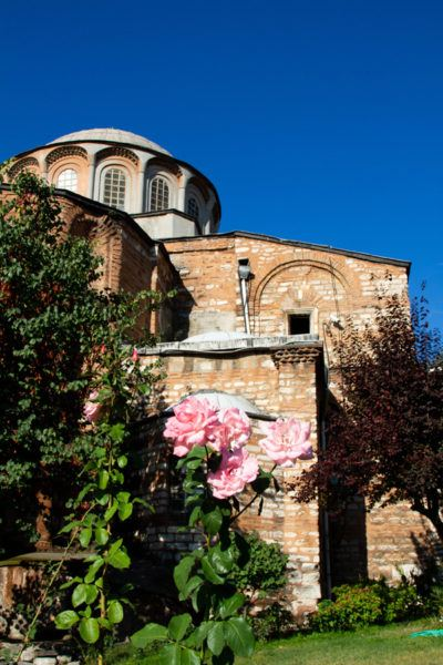 The exterior of the stunning Chora Church.