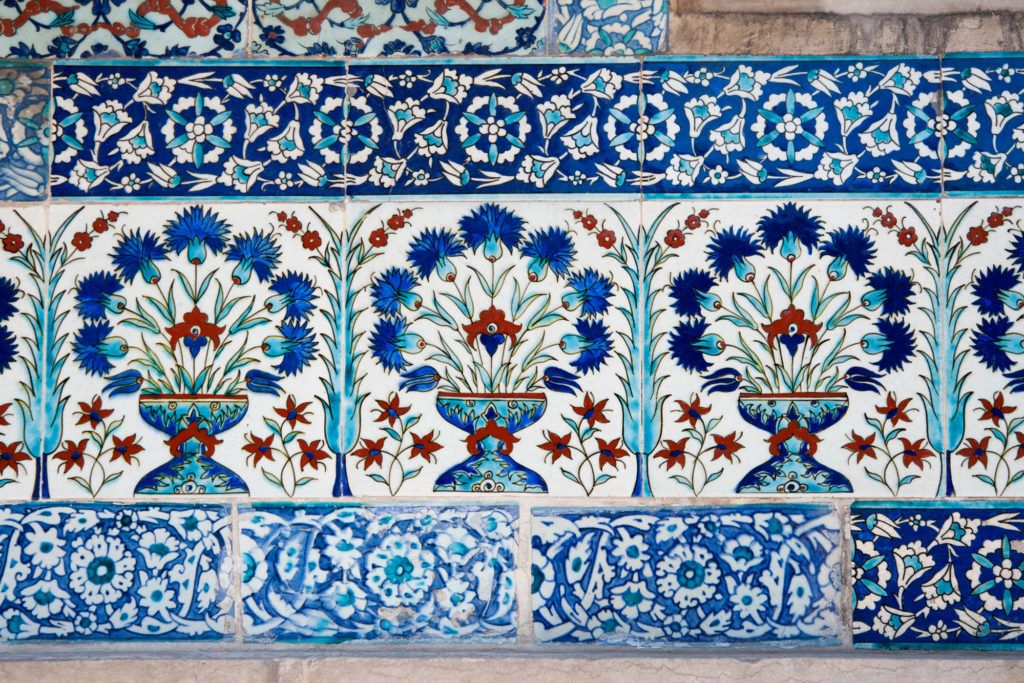 The blue paint of Iznik tiles have always made them special.