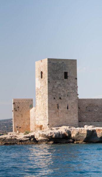 Square tower on Kizkalesi Castle.
