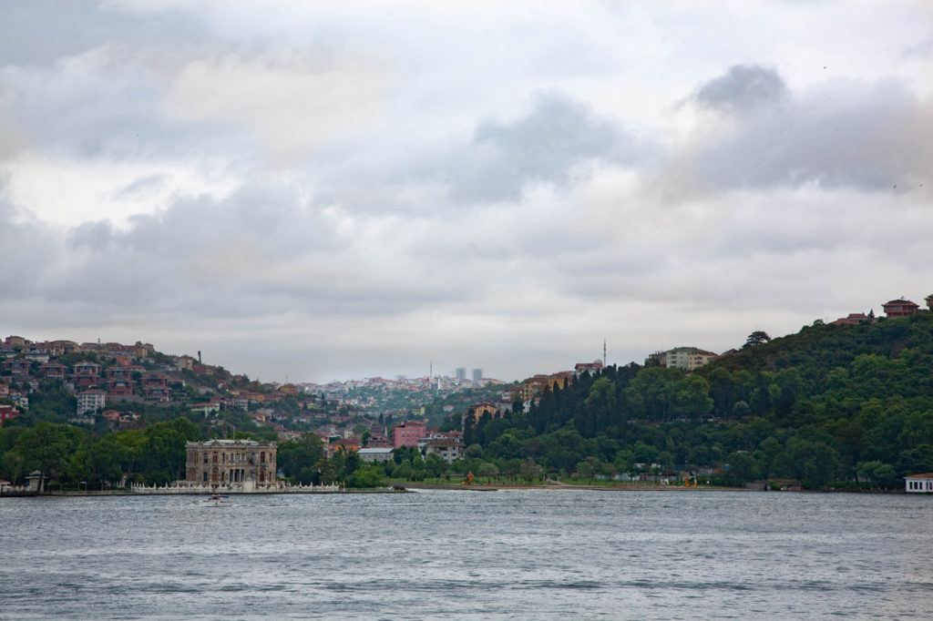 The view across the Bosphorus from Rumelihisari.
