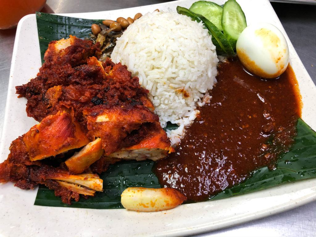 Nasi Ayam, a typical Malaysian dish.