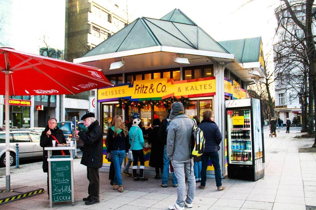 German fast food stand in Berlin.