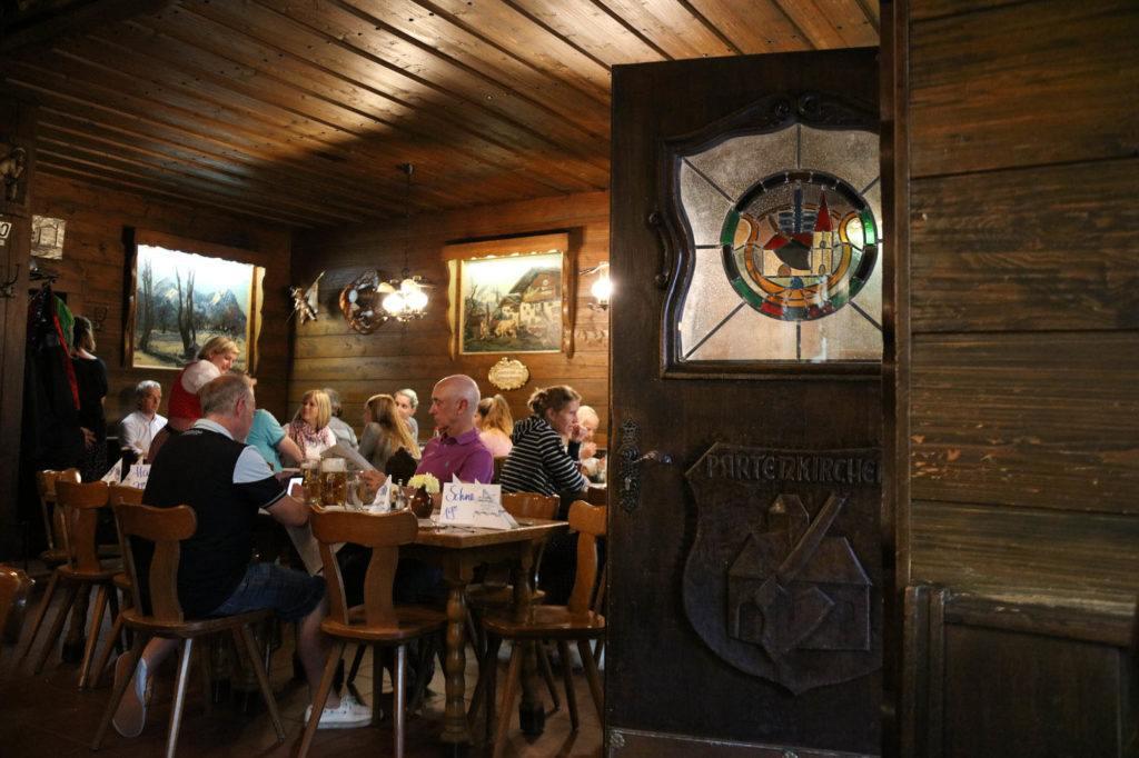 A typical German restaurant in Partenkirchen.