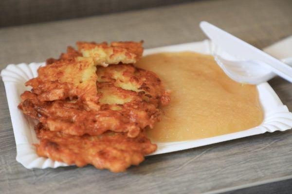 Kids love German potato pancakes with applesause.