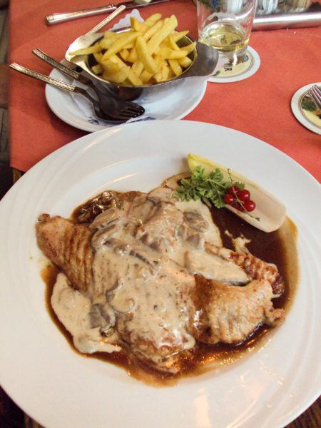Fries, meat and sauce are a typical German meal and exactly what to eat in Germany.