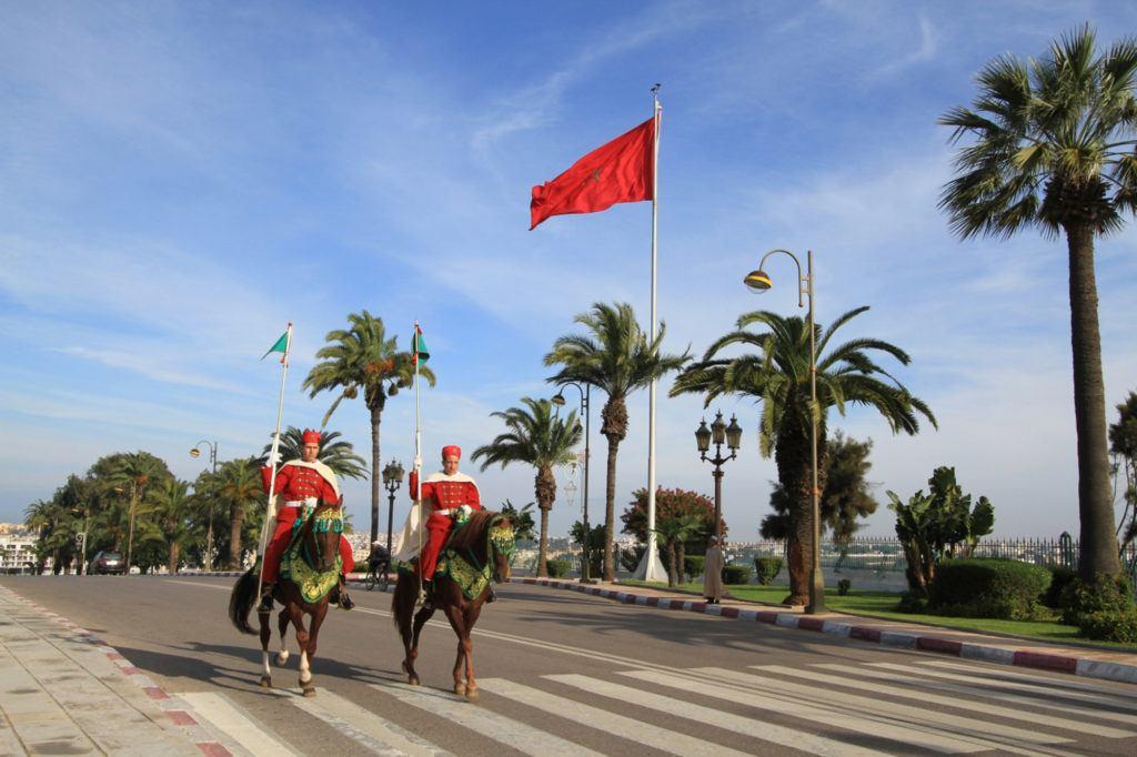Royal guards on horseback in Rabat, Morocco.