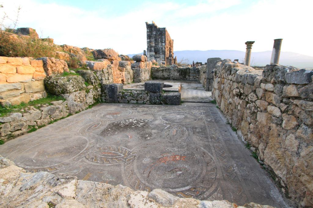 The mosaic floors in Volubilis are in amazing condition considering they are over 2000-years-old and are open to the elements.