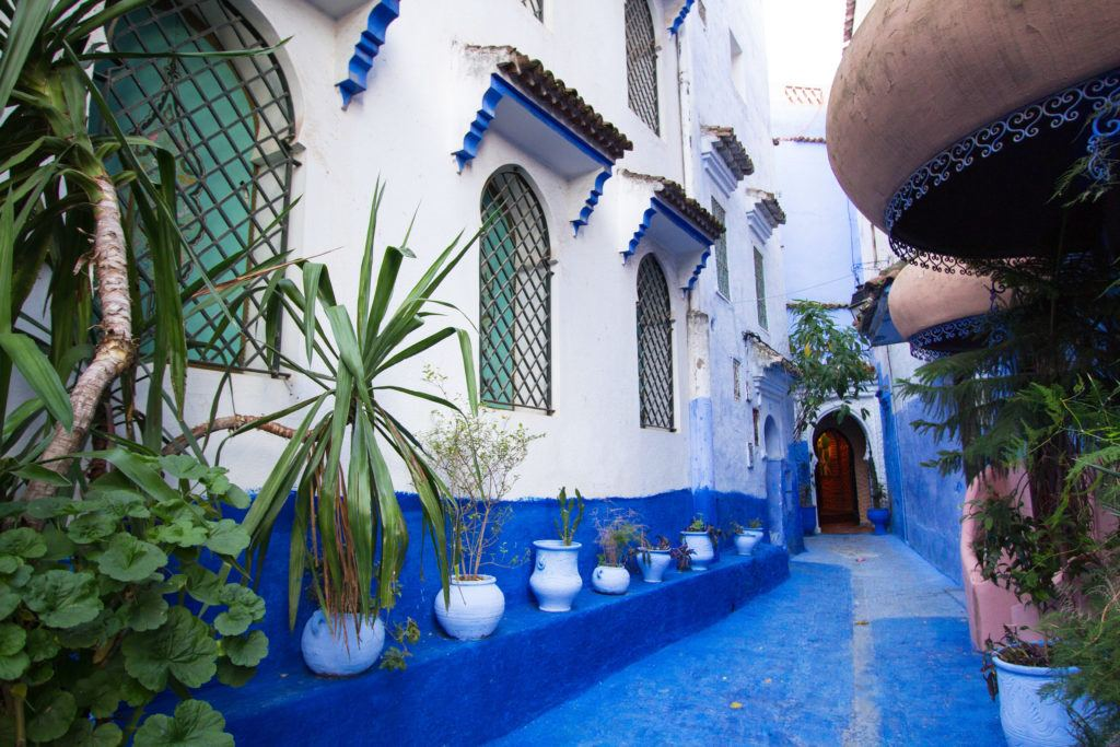 Moroccan design and architecture in Chefchaouen.