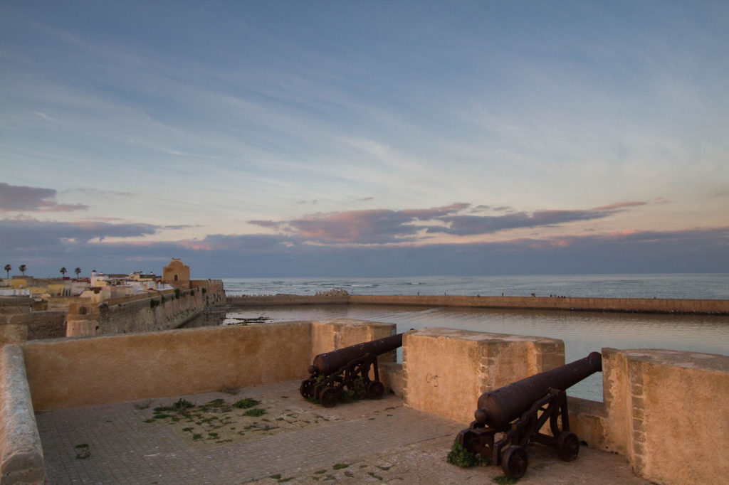 Cannon placements on the El Jadida fortress wall.