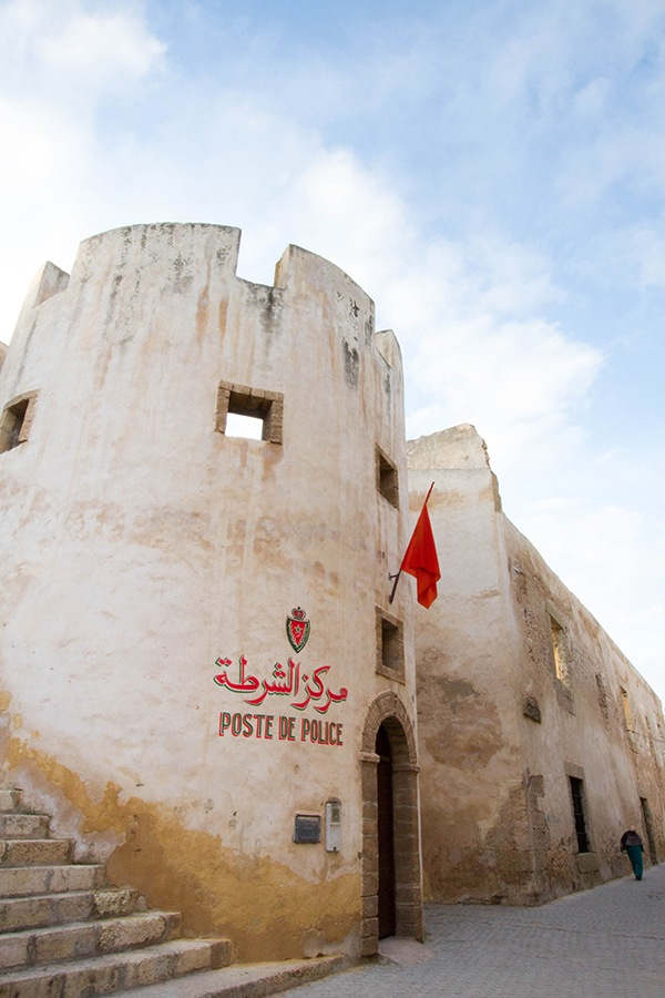 Picturesque Post De Police in a tower in the town wall, El Jadida, Morocco.