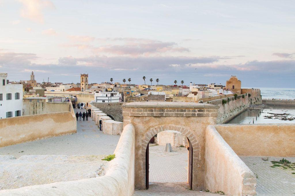 Old city walls and gate El Jadida, Morocco.