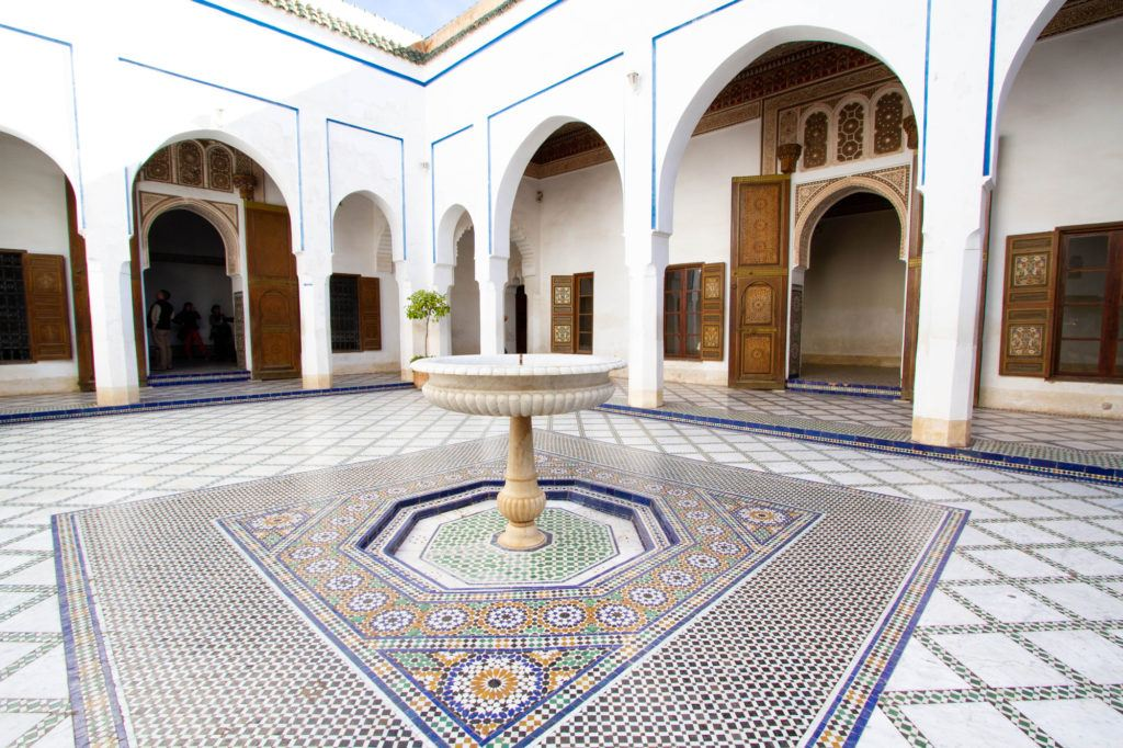 You need at least 2 days in Marrakech just to see the major sights like the Bahia Palace.