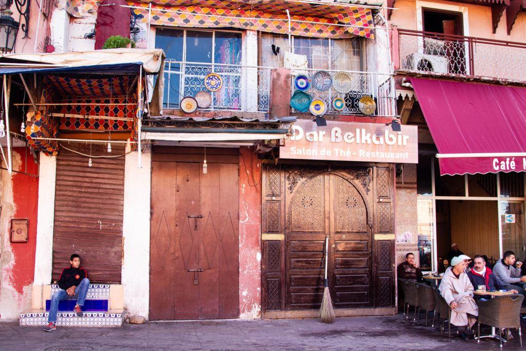 Entrance to Dar Belkabir, a popular Marrakech restaurant.