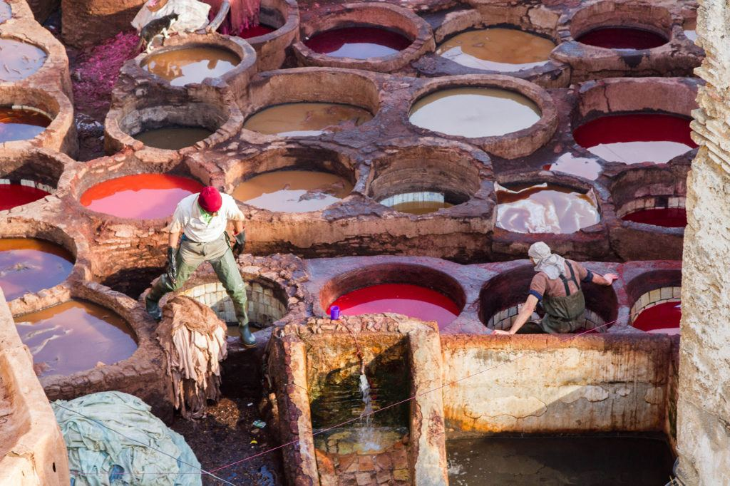 Taking a tour is the best way to visit Fez tanneries, and the Chouara Tannery dye pots are a sight you won't want to miss.