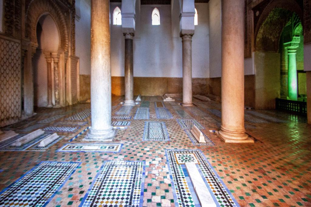The Saadien Tombs, in Marrakesh, are home to the remains of the sultans.