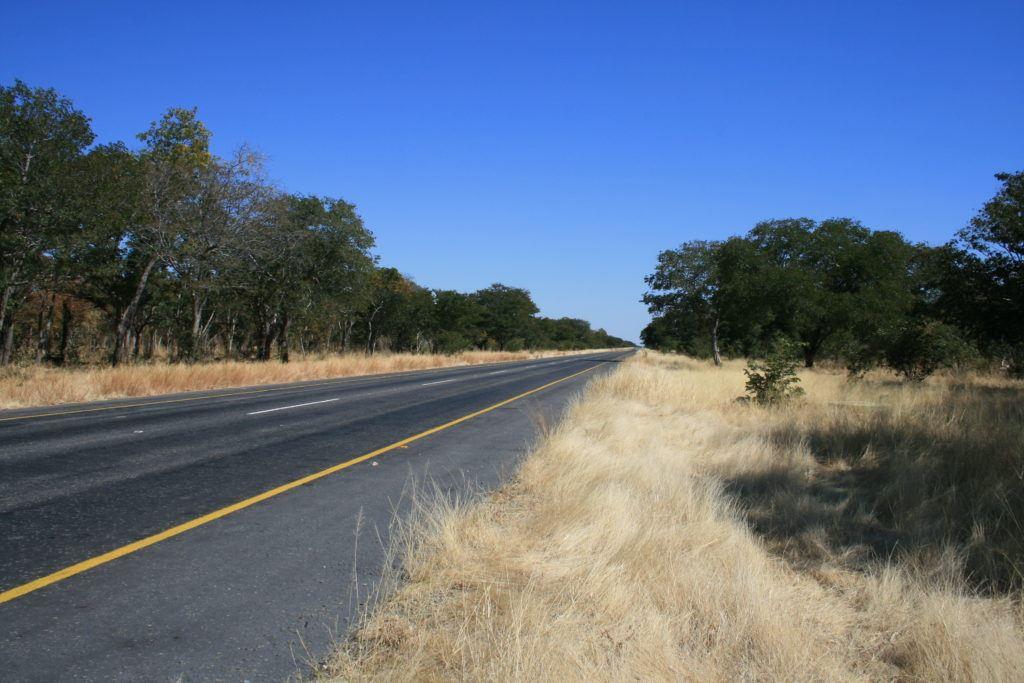 Botswana road near Chobe National Park.