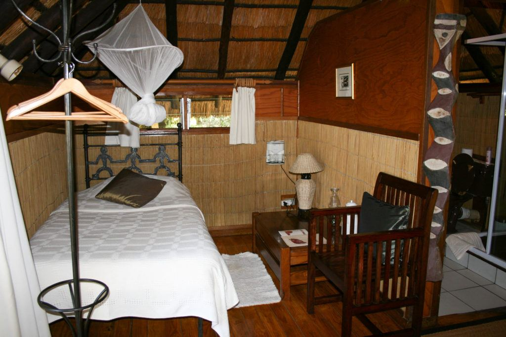 There was lots of comfort in our Kubu lodge accommodations in Kasane.