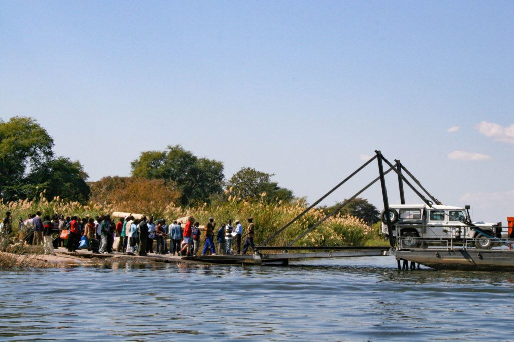 This is the Kazungula Ferry that we rode over the river from Zambia to Botswana. What a trip!