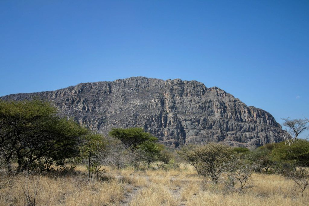 One of the hills where thousands of Tsodilo Ancient Rock Paintings are located.