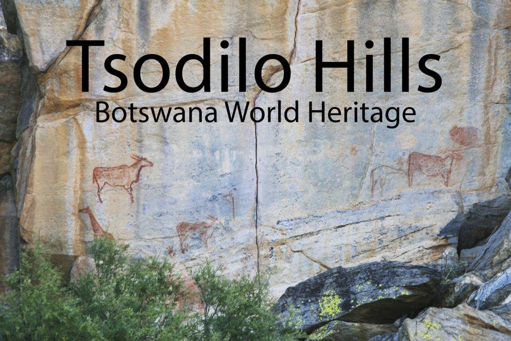 Rock paintings at Tsodilo Hills, Botswana.