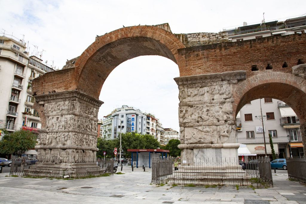 One of must-see attractions in Thessaloniki, the Roman Arch of Galerius.