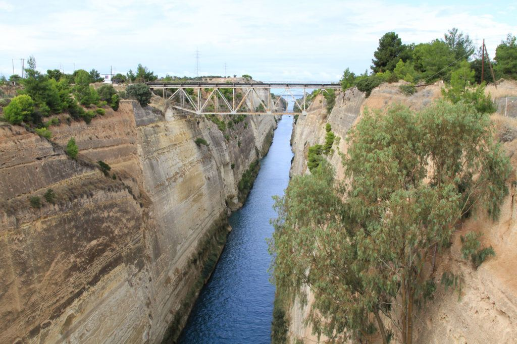 We visited the Corinth Canal the day before we officially took off on our Greece Road Trip.