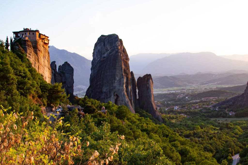 Visiting Meteora for a the monasteries on rock precipes.