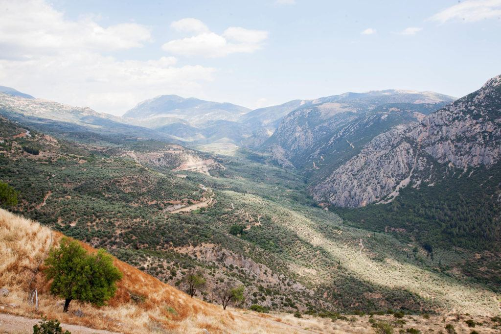 "The valley which the Oracle of Delphi called ""the navel."""