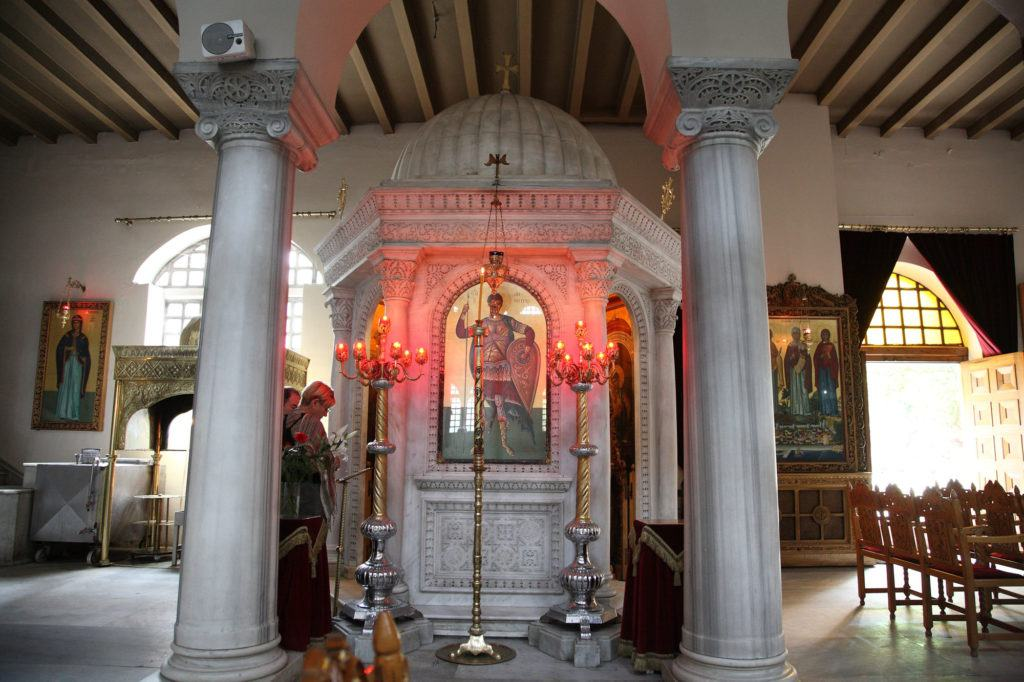Encased is a relic of St. Demetrios, which should be on your one day itinerary for Thessaloniki.